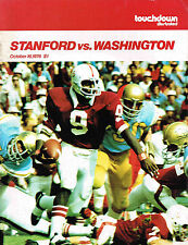 1976  WASHINGTON  vs STANFORD Football Program NCAA