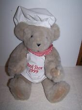 VERMONT TEDDY BEAR WITH CHEF OUTFIT WITH 1999 FOOD SHOW APRON