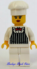 NEW Lego Minifig FEMALE CHEF - Southern Girl Cook Barbacue- White Legs & Hat