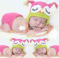 2014 lovely Baby Girls Boy Newborn Knit Crochet Clothes Photo Prop Outfits 0-9M+