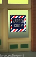 Miller's Barber Shop Animated Neon Window Sign   #8930 O/O27 HO scale