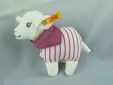 New Steiff Plush White Leni lamb baby RATTLE   EAN 238802 Super Soft!