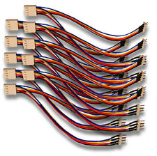 "10 Qty 4 pin PWM Fan Splitters Y Cable Female 4 pin PWM to 2 Male 4 pin 6"" Long"