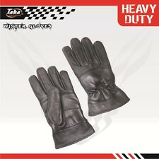 LADIES WOMEN LEATHER DRESSING DRIVING BIKER RIDING WINTER WARM GLOVES LARGE