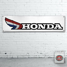 Classic Honda Motorcycles Banner:  heavy duty for workshop, garage, mancave