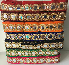 9 Meters Latest Gota Foil  Zari  Dupatta Sari Border lace Ribbon Trim Indian