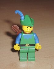 LEGO 6077 CASTLE - Forestman - Blue, Green Hat, Blue Feather, Quiver MINI FIGURE