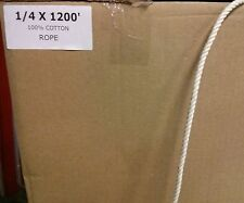 """1/4"""" x 1200' 100% Cotton Rope Great for Bird Toys"""