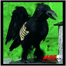 Life Size Black Crow - Halloween Party Decoration/Prop Raven Graveyard SCARY