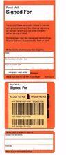 200 Royal Mail Firmate Per Etichette di consegna registrata. foglio di adesivi UFFICIO POSTALE
