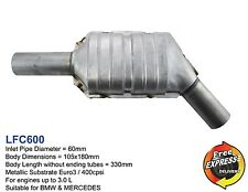 """Metallic Catalytic Converter Oval CAT 2.3"""" 60mm 400cpsi Euro3 for Mercedes BMW"""