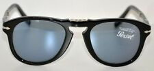 PERSOL 714SM SUNGLASSES 714-SM BLACK BLUE Limited Edition Steve McQueen Size 52