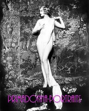 "HAZEL FORBES 8X10 Lab Photo ""ALFRED CHENEY JOHNSTON"" 1910s ZIEGFELD FOLLIES Nude"