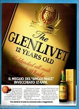 AIRONE984-PUBBLICITA'/ADVERTISING-1984- GLENLIVET 12 YEARS OLD
