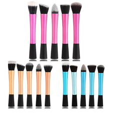 Pro Concealer Cosmetic Powder Blush Foundation Brush Pink Blue Yellow Colors AO