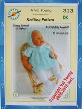 "DOLLS KNITTING PATTERN 1st baby Annabell.13""to14"" Doll by Val Young No.313 NEW"