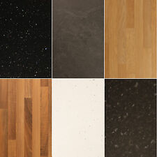 Laminate Kitchen Worktop 6 Piece Sample Set, High Gloss and Textured Finishes