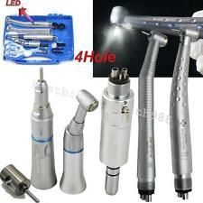 Dental Handpiece Set 4 Hole-2 High Speed(1 LED) +1 low Speed kit+ Portable Box