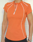 Cycling Bike Jersey Top cap Sleeve Women Ladies Orange S 8 M 10 L 12 XL 14