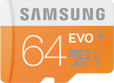 Original Samsung 64GB EVO Micro SD Card Class 10 Memory Card With Adaptor