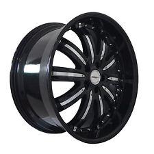 4 GWG Wheels 20 inch Black Chrome NARSIS Rims fits CHEVY MALIBU LTZ 2013 - 2015