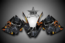 Arctic Cat ProClimb ProCross Graphics Decal Kit Wrap Toxic Fire 2012 - 2015