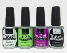 EZFlow Nail TruGel- SET OF 4 bottles- Choose any Color/Bond-It-On/Base/Top 0.5oz