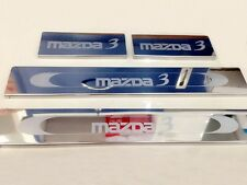 Chrome Sill Scuff Plate Stainless Steel For Mazda 3 Sedan Hatchback 4 Door 5Door
