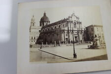 GA34  Stampa-Foto-Old Print 1372-Cattedrale di Catania G.Sommer