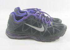 MEN'S NIKE AIR MAX+ 2011 429889-005 black/purple silver Size  10
