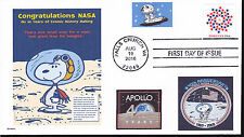 SNOOPY THE ASTRONAUT  NASA 40 YR ANNIVERSARY APOLLO MOON DOGS IN SPACE- FDC-DWc