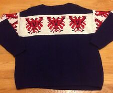 Vtg 60s Thunderbird Dralon M/L Sweater German Nordic Cowichan Rockabilly Hippie