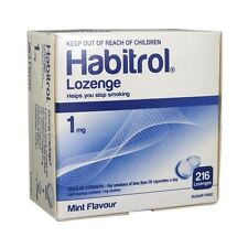 Habitrol nicotine lozenge 1 mg mint flavor (216 pieces, 1 box) NEW