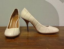 BCBG MAX AZRIA Cream Pleated Leather High Heel - 9.5