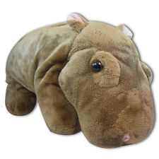 "13"" Brown Standing Hippo Hippopotamus Plush Stuffed Animal Soft Plush Toy New"
