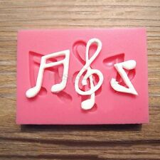 Silicone Candy Clay Fondant Mold Musical Note Sugarcraft Cake Decorating Tool