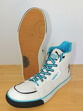 Girls Puma High Top Hip-Hop White Blue 10.5 Dance Sneaker Shoe Leather Rare EUC