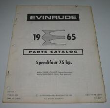 Parts Catalog Evinrude Ersatzteilkatalog Speedifour 75 HP Außenborder Stand 1965