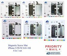 6in1 Magnetic Screw Chart Mat Professional Repair Guide iPhone 5/5S/5C/6/6+/6S