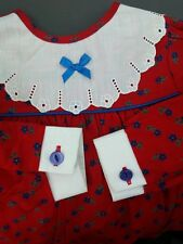 VINTAGE RETRO 1970's Red Dress 6 months, Made in England, Baby, ORIGINAL, GIFT
