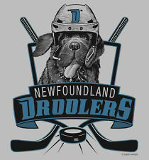 SALE! DROOLERS Newfoundland Dog NHL Hockey TEE  4 Newfie Dog Rescue Project