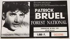 PATRICK BRUEL : billet collector ticket concert BELGIQUE Bruxelles 26/05/1991