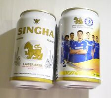 EMPTY SINGHA CHELSEA Two Lions One Pride Lager BEER can THAILAND 330ml Asia 2013