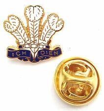 Prince of Wales Feathers White Enamel Lapel Pin Badge T248