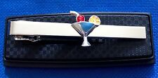 Bartender tie clip tropical drink charm tie clasp martini drink pin