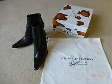 DONALD J PLINER Michi Black Baby Calf Leather Ankle Slip On Boots sz.9.5 M  EUC