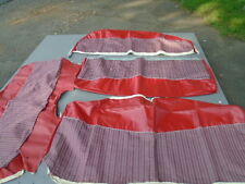 1964 Ford N.O.S. Red Custom/Galaxie 4 door sedan seat covers.