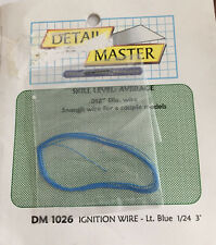 """DETAIL MASTER DM 1026 Ignition Wire Lt. Blue 1/24 Model 3' (feet) .012"""" Dis Wire"""