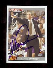 MARK IAVARONI 2005 Topps Total - Phoenix Suns / Virginia - SIGNED AUTOGRAPH Card