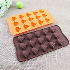 1pcs Emoji Poop Face Silicone For Cake Chocoloate Candy Biscuit Ice Baking